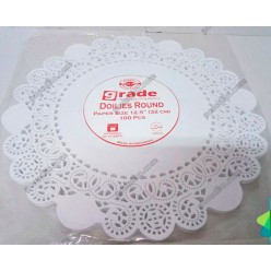 Підложка Серветка паперова ажурна біла d-300 мм (Grade)