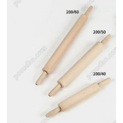 Confectioners Качалка з ручками які обертаються світле дерево L-600 мм, d-55 мм (Bisetti)