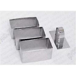 Кільце гарнірне Форма для формовки та випічки прямокутник 80 х40 мм, h-45 мм 140 мл (Steelay)