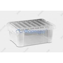 Capacity Ємність для зберігання прямокутна з кришкою 380 х265 мм, h-230 мм 14,0 л (Araven)