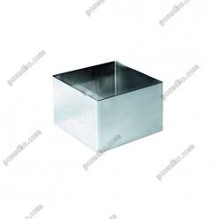 Кільце гарнірне Форма для формовки та випічки квадратна 80 х80 мм, h-45 мм 280 мл (Ibili)