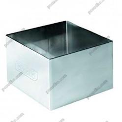 Кільце гарнірне Форма для формовки та випічки квадратна 100 х100 мм, h-45 мм 450 мл (Ibili)