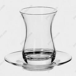 Tea glass Склянка для чаю з блюдцем 160 мл (Pasabahce)
