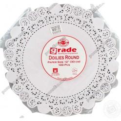 Підложка Серветка паперова ажурна біла d-270 мм (Grade)