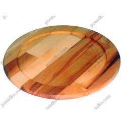 Дуб, ясен Підставка із заглибленням під гарячий посуд кругла d-250 мм, h-20 мм (Кедр)