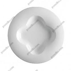 Orbe Тарілка кругла у формі капелюха квітка d-310 мм, h-40 мм 680 мл (Porvasal)