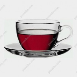 Basik Чашка для кави з блюдцем 90 мл (Pasabahce)