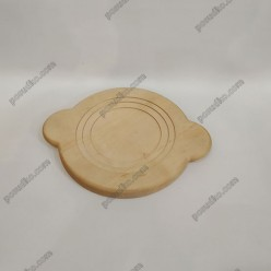 Ясен Підставка під гарячий посуд кругла з вушками 220 х220х20 мм (Поділля)