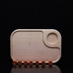 Ясен Дошка для подачі з заглибленням під соусник 280 х190х20 мм (Поділля)