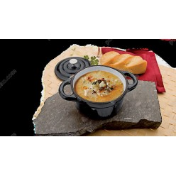Cocotte Каструлька порційна з кришкою чорна d-100 мм, h-45 мм 300 мл (Ibili)