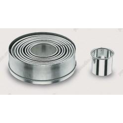 Кондитеру Штамп для висічки круглий, набір d-110...40 мм (Lacor)