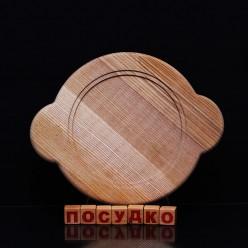 Ясен Підставка під гарячий посуд кругла з вушками 200 х200х20 мм (Поділля)