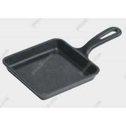 Сковорода порционная квадрат с ручкой Chugun OM