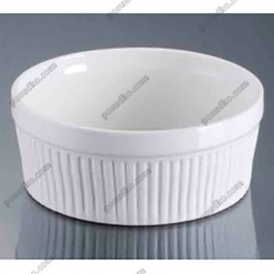 Alt porcelain Форма для запікання та подачі кругла d-125 мм, h-55 мм 350 мл (Alt porcelain)