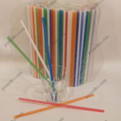 Фреш Трубочки прямі мікс кольорів d-7 мм, L-250 мм (Пласт)