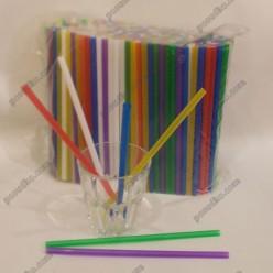 Фреш Трубочки прямі мікс кольорів d-6,8 мм, L-210 мм (Пласт)