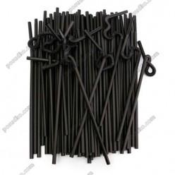 Artist Трубочки з довгою гофрою чорні d-6 мм, L-280 мм (Пласт)