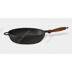 Чавун термо Сковорідка з дерев`яною ручкою d-280 мм, h-60 мм (Ситон)