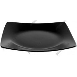 London Тарілка квадратна мілка чорна 250 х250 мм (Ipec)