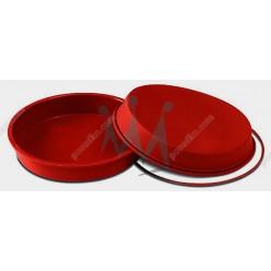 Професійний силікон Форма для випічки, заливки, заморозки кругла з кільцем теракотова темна d-180 мм, h-40 мм 1,0 л (Silikomart)