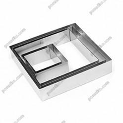Кільце гарнірне Форма для формовки та випічки квадратна 100 х100 мм, h-40 мм 400 мл (Lacor)