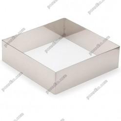 Кільце гарнірне Форма для формовки та випічки квадратна 120 х120 мм, h-40 мм 570 мл (Lacor)