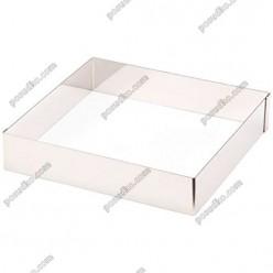 Кільце гарнірне Форма для формовки та випічки квадратна 200 х200 мм, h-40 мм 1,6 л (Lacor)