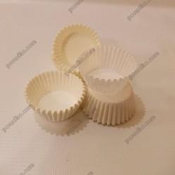 Тарталетка Форма паперова для випічки кругла біла d-35 мм, h-20 мм (Україна)