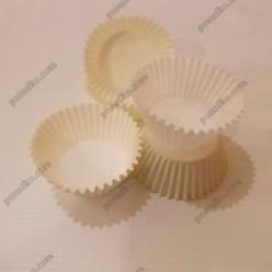 Тарталетка Форма паперова для випічки кругла біла d-40 мм, h-27 мм (Україна)