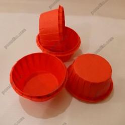 Тарталетка Форма паперова для випічки з підсиленим бортиком червона d-55 мм, h-35 мм (Україна)