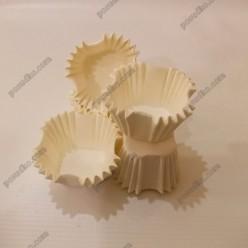 Тарталетка Форма паперова для випічки квадратна біла 30 х30 мм, h-30 мм (Україна)