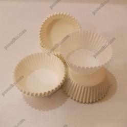 Тарталетка Форма паперова для випічки кругла біла d-45 мм, h-26 мм (Україна)