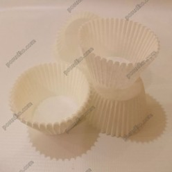 Тарталетка Форма паперова для випічки кругла біла d-45 мм, h-35 мм (Україна)