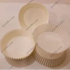 Тарталетка Форма паперова для випічки кругла біла d-60 мм, h-22 мм (Україна)