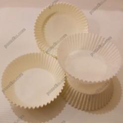 Тарталетка Форма паперова для випічки кругла біла d-60 мм, h-27 мм (Україна)