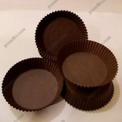 Тарталетка Форма паперова для випічки кругла коричнева d-70 мм, h-22 мм (Україна)