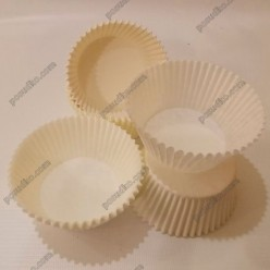 Тарталетка Форма паперова для випічки кругла біла d-55 мм, h-42 мм (Україна)