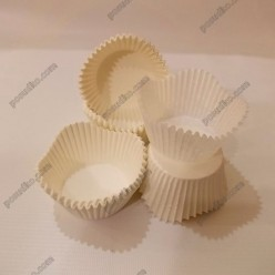 Тарталетка Форма паперова для випічки квітка біла d-50 мм, h-30 мм (Україна)