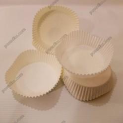 Тарталетка Форма паперова для випічки квітка біла d-70 мм, h-22 мм (Україна)