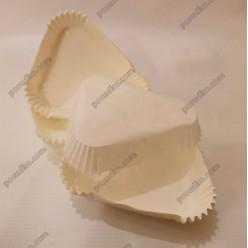 Тарталетка Форма паперова для випічки трикутна біла 95 х80 мм, h-25 мм (Україна)