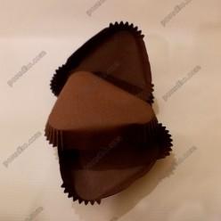 Тарталетка Форма паперова для випічки трикутна коричнева 95 х80 мм, h-25 мм (Україна)