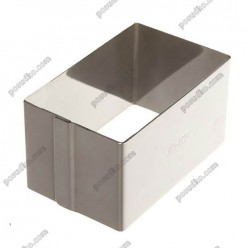 Кільце гарнірне Форма для формовки та випічки прямокутник 120 х60 мм, h-45 мм 320 мл (Ibili)