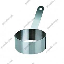 Кільце гарнірне Форма для формовки та випічки кругла з ручкою d-80 мм, h-45 мм 250 мл (Ibili)