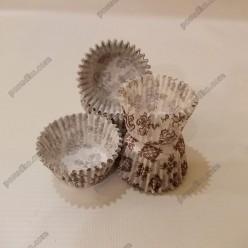 Тарталетка Форма паперова для випічки кругла коричневий візерунок d-30 мм, h-24 мм (Україна)