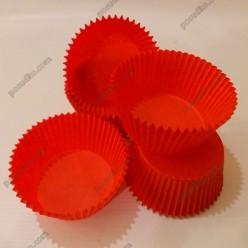 Тарталетка Форма паперова для випічки кругла червона d-55 мм, h-35 мм (Україна)