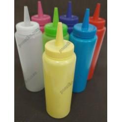 Kitchen Пляшка для соусу, сиропу з носиком жовта d-47 мм, h-145/180 мм 225 мл (Україна)