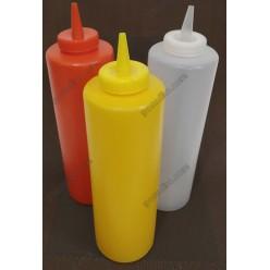 Kitchen Пляшка для соусу, сиропу з носиком жовта d-60 мм, h-182/210 мм 450 мл (Україна)