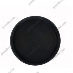 Таця Піднос з антиковзаючим покриттям круглий чорний d-400 мм (Winco)