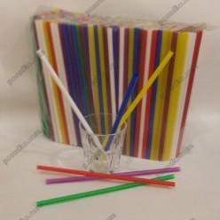 Фреш Трубочки прямі мікс кольорів d-8 мм, L-250 мм (Пласт)