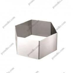 Кільце гарнірне Форма для формовки та випічки шестикутна 80 мм, h-45 мм (Ibili)